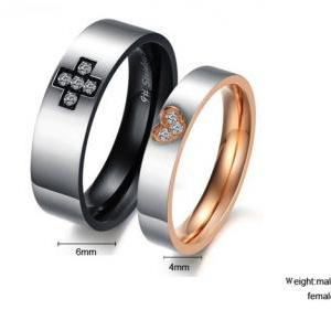 Couple Promise Ring Band set for Hi..