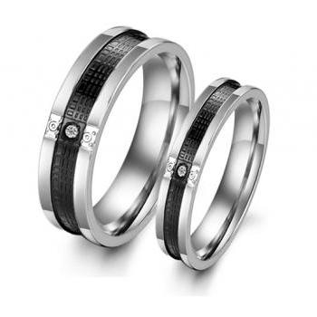 His & Her Eternity Couple Ring Band Set - Promise Ring - Anniversary Ring - Friendship Ring (available from sizes 5 - 10)